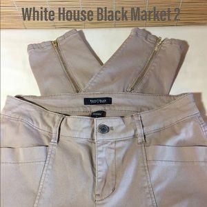 WHBM tan skimmer pants 2